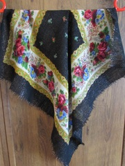 Платок шерстяной с люрексом 60х60 см